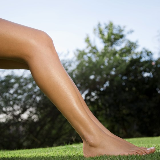 Exercise keeps leg muscles active.