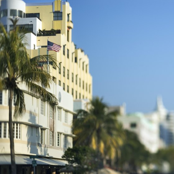 While in Miami, take a moment between South Beach shopping to appreciate the Art Deco buildings.