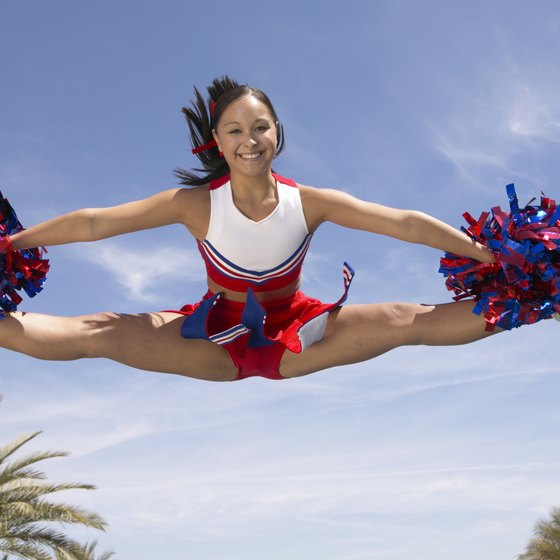 The toe touch jump is the most common of all of the cheerleading jumps.