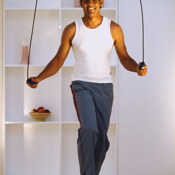 Taking small jumps minimizes the impact of your jump rope workout.