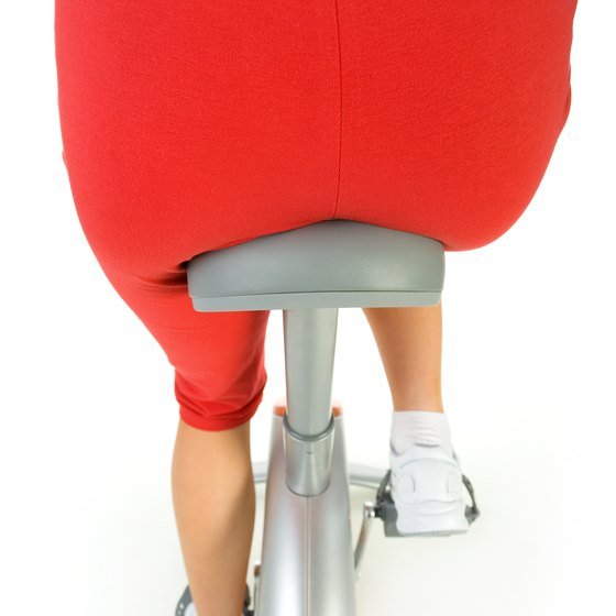 Regular exercise and healthy dieting help to shrink a large rear end.