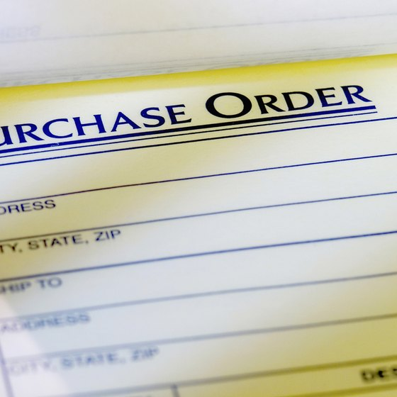 A purchase order is a contract between a buyer and a seller.