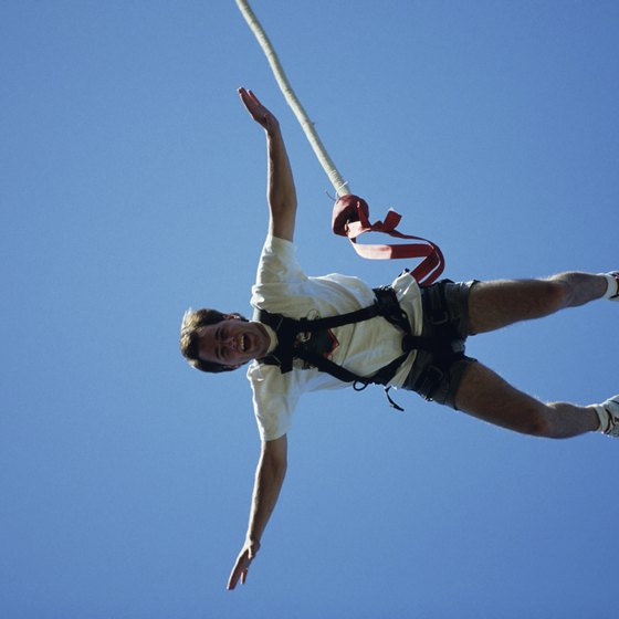 Bungee jump with confidence at the Zero Gravity Thrill Park in Dallas.
