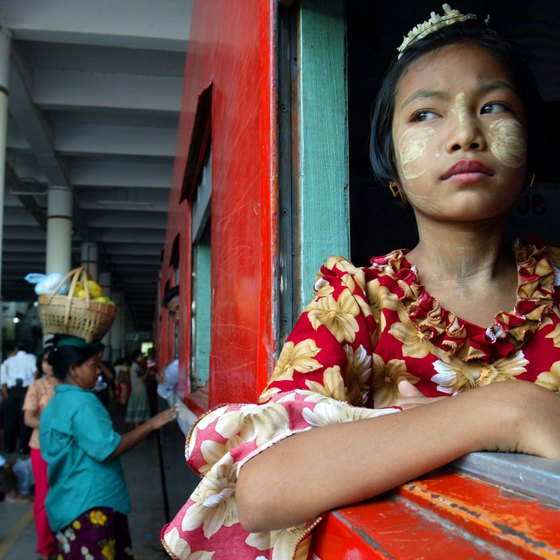 Myanmar's trains have been taking passengers around the country since 1877.