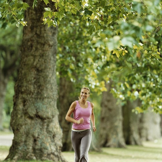 Jog in the park for fresh air and invigorating surroundings..