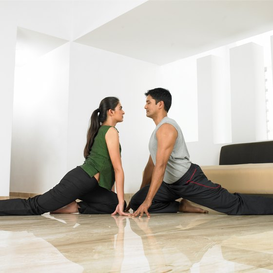 Practice makes perfect for both genders when it comes to splits.