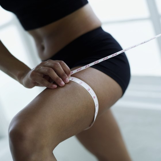 Shapely, toned thighs can be achieved with overall weight loss and exercise.