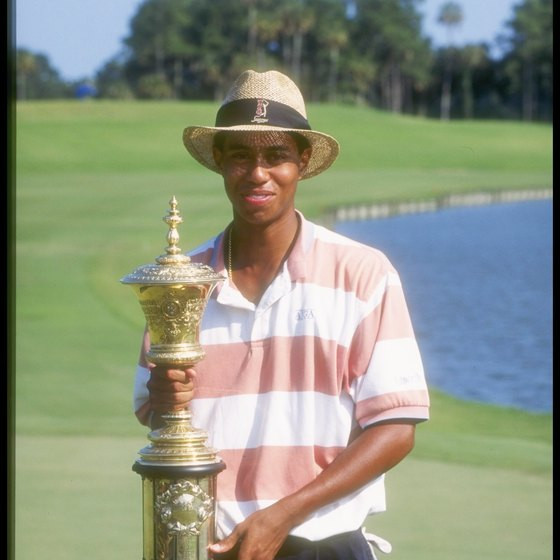 Young Tiger Woods was a protege of golf instructor John Anselmo when Woods won the 1994 U.S. Amateur Championship.