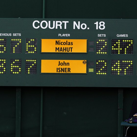The scoreboard at Wimbledon is easy to read if you understand tennis scoring.