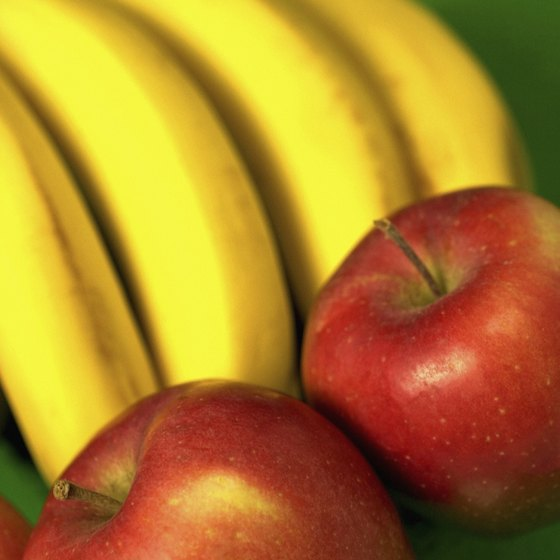 Bananas, apples and pears all contain antioxidants.