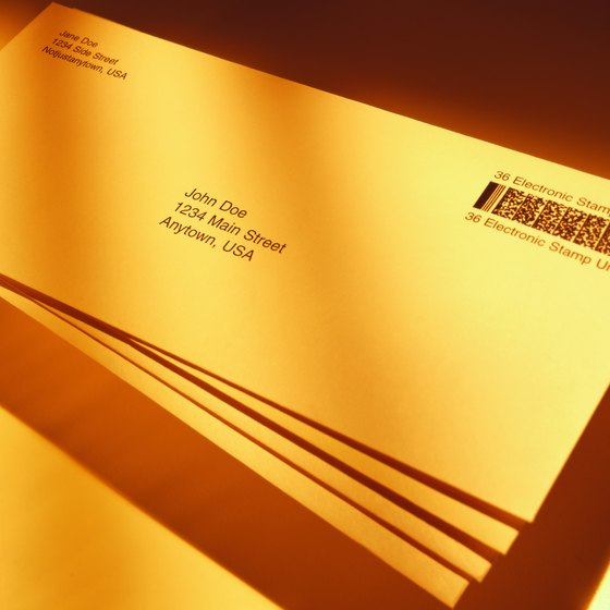 A printed envelope is much more personalized than a mailing label.