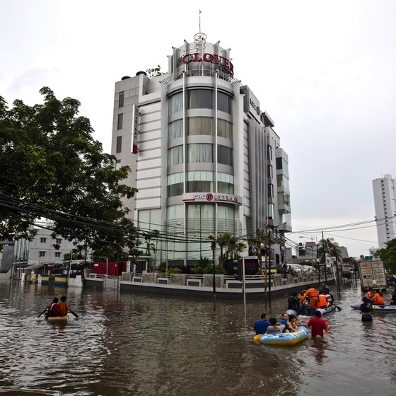 Jakarta can get severly flooded during the rainy season.