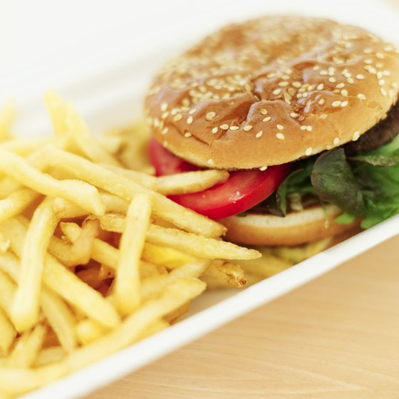 Fast-food meals tend to be heavy with carbohydrates.