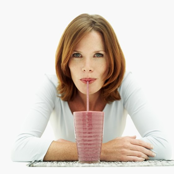 Enjoying nutritious, high-calorie beverages can be a healthy way to gain weight.