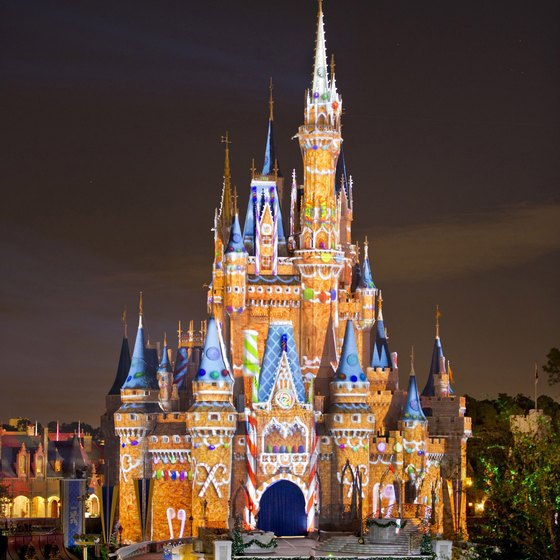 A dream wedding might be outside Cinderella Castle.