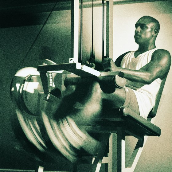 The leg extension machine controversy centers around knee health.