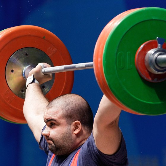 Olympic weightlifters use push presses as an ancillary exercise.