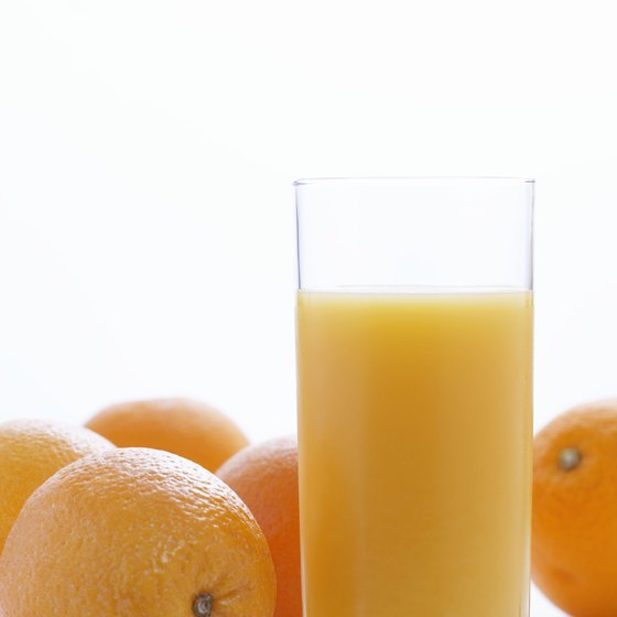Orange juice is loaded with potassium.