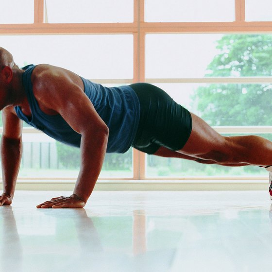 Pushups strengthen your core.