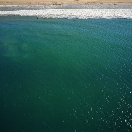 This aerial view of Zuma pictures the water of one of southern California's cleanest beaches.