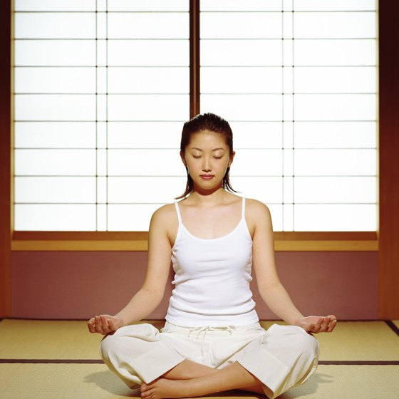 Japanese yoga uses gentle stretching and meditation to achieve a calm and peaceful state.