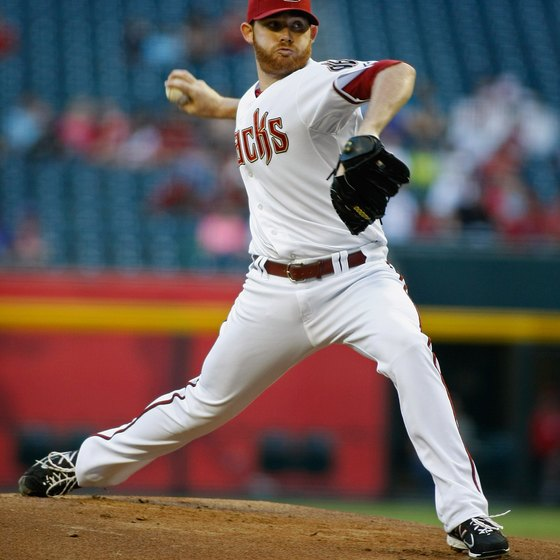 Arizona Diamondbacks pitcher Ian Kennedy's explosive strength allows him to throw the ball at speeds upwards of 90 mph.