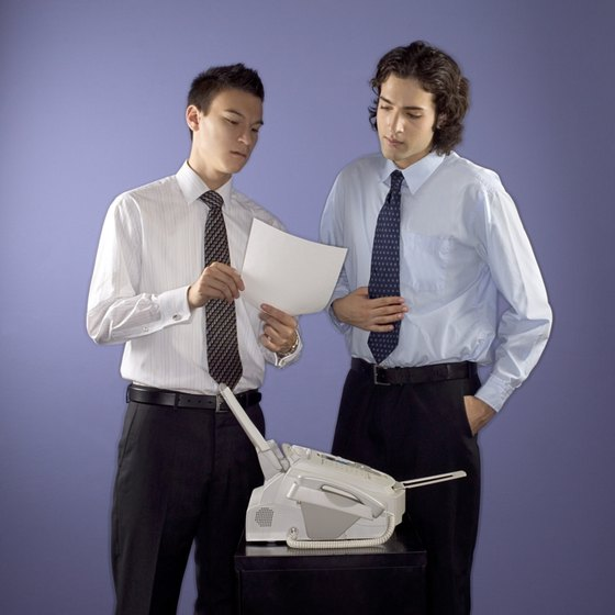 how to test fax machine