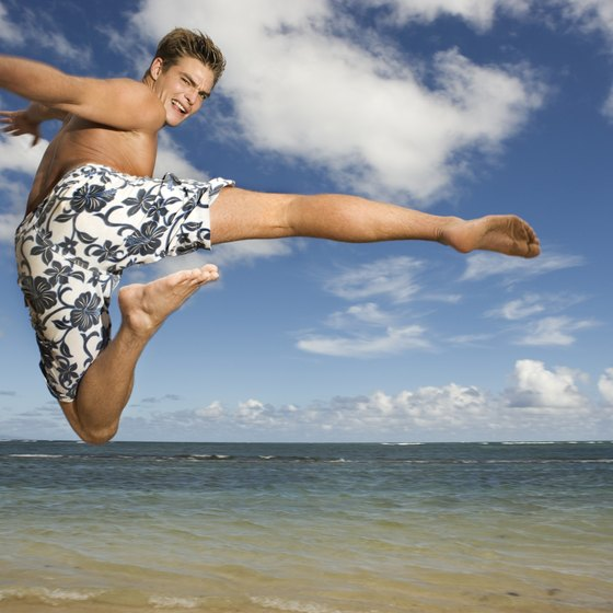 Choose swim shorts that allow freedom of movement.