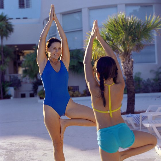 Tree pose works the core stabilizer muscles like the external and internal obliques.