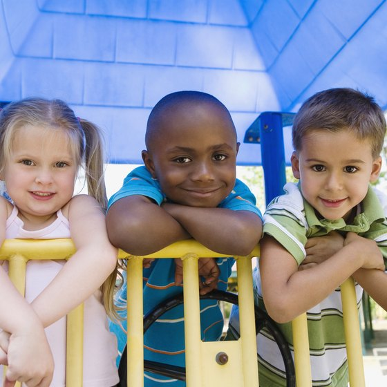 Playing outside can help your child make new friends.