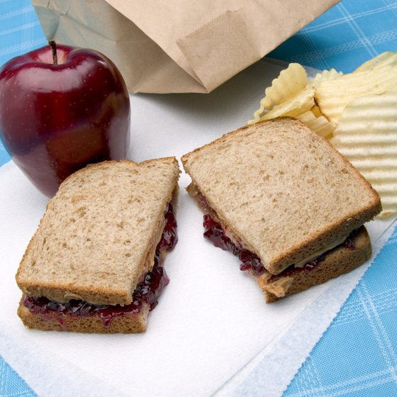 Make your peanut butter and jelly sandwiches with wheat toast to get more fiber.