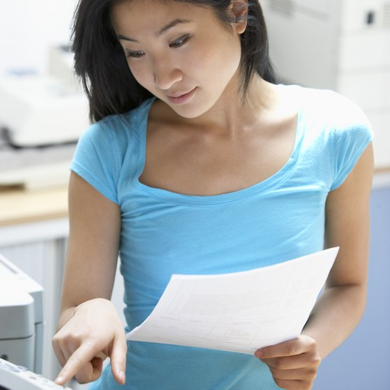Devices such as fax machines help businesses quickly process customer orders.