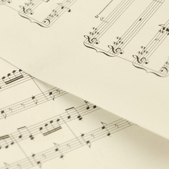 Songs printed in sheet music are protected by copyright.