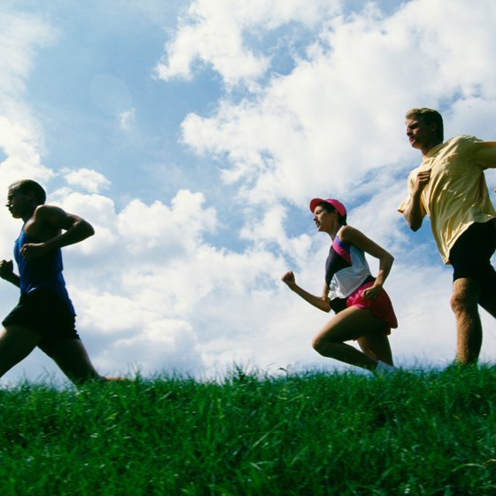 Run with a group to keep your motivation high.