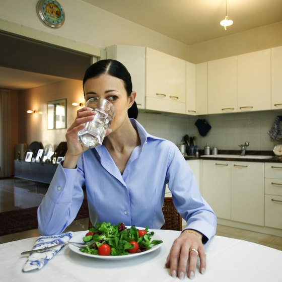Cut down on your total calorie intake by drinking water instead of soda.