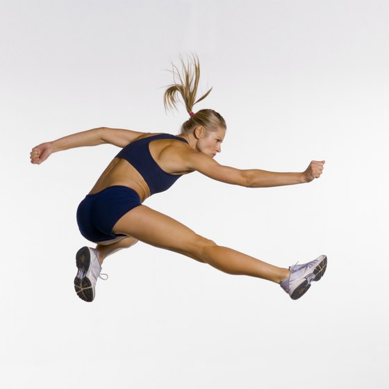 Plyometric workouts involve quick muscle contractions, like those in jumping.