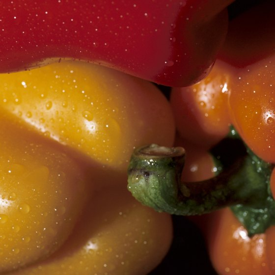 Bell peppers are rich in healthful plant pigments.