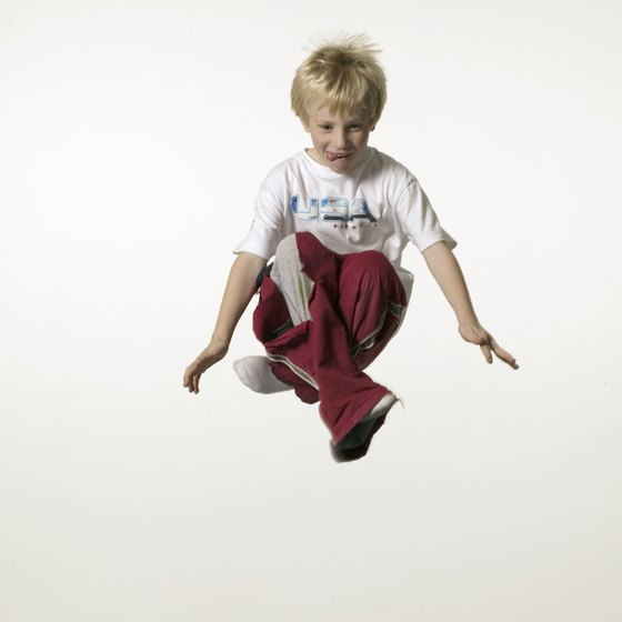 A mini trampoline improves circulation, muscle tone and cardiovascular fitness.