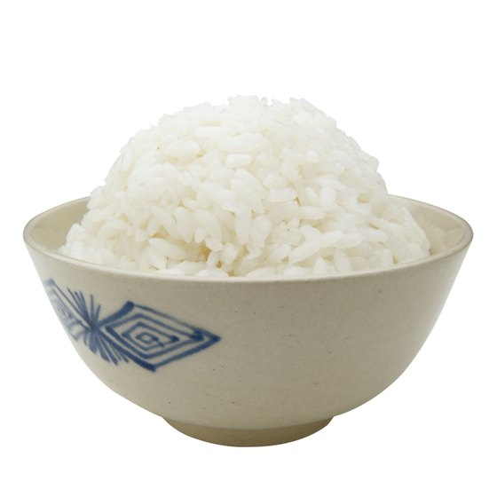 Steamed white rice contains beneficial zinc and manganese.