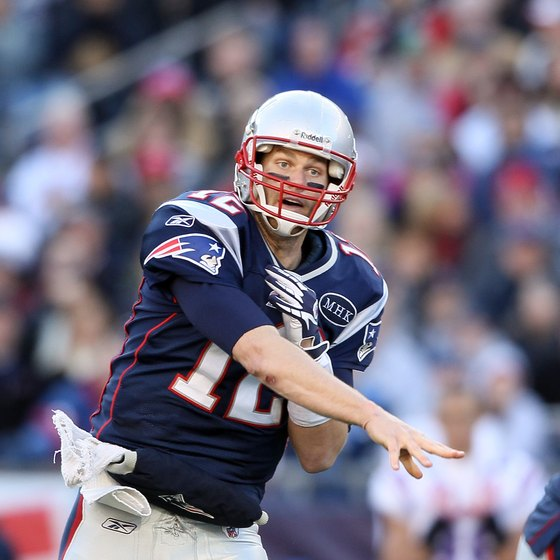 New England quarterback Tom Brady throws the ball against Buffalo on New Year's Day 2012.