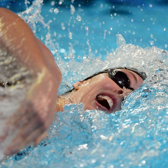 Swimming 7,000 yards can be a challenging workout.