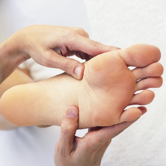 Massaging your feet can help increase circulation back to normal.
