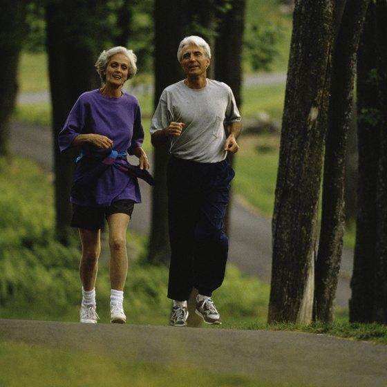 Jog with a partner for safety and to strengthen social connections.