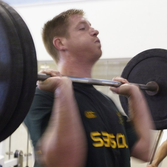 Boost your shoulder strength with military presses.