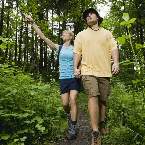 Hiking is a pleasant way to lose weight.