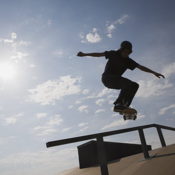 A few U.S. airlines allow skateboards onto planes as carry-on.
