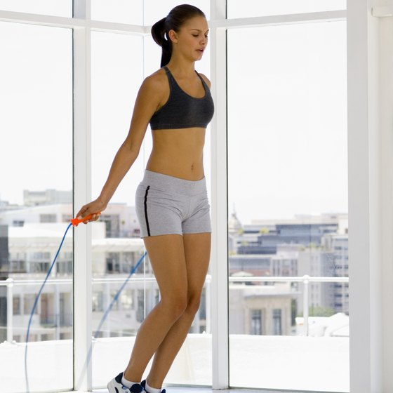 Jumping rope is a simple exercise to include in a circuit.