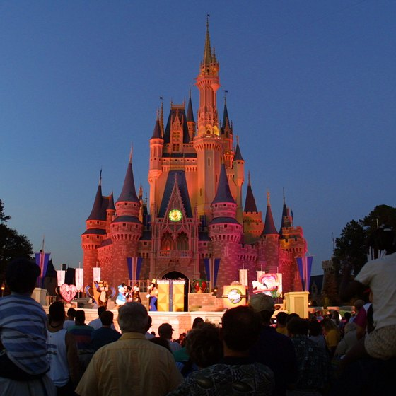 The iconic Cinderella's Castle reigns over the popular theme park.