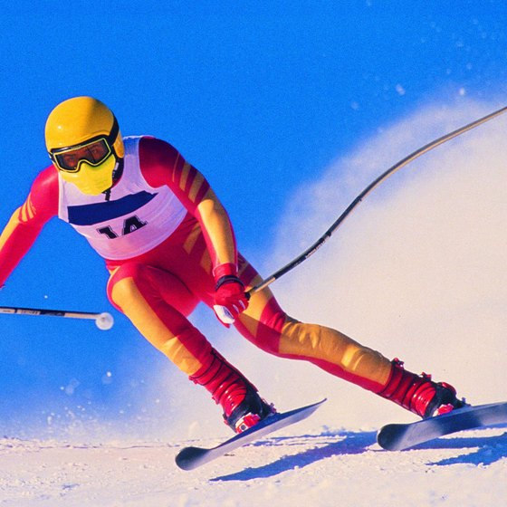 Downhill racers reach speeds over 90 mph.