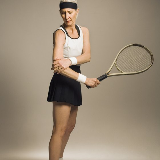 A simple brace can speed healing from your tennis elbow injury.
